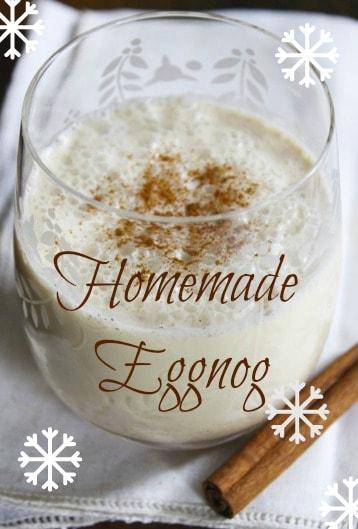 homemade eggnog image