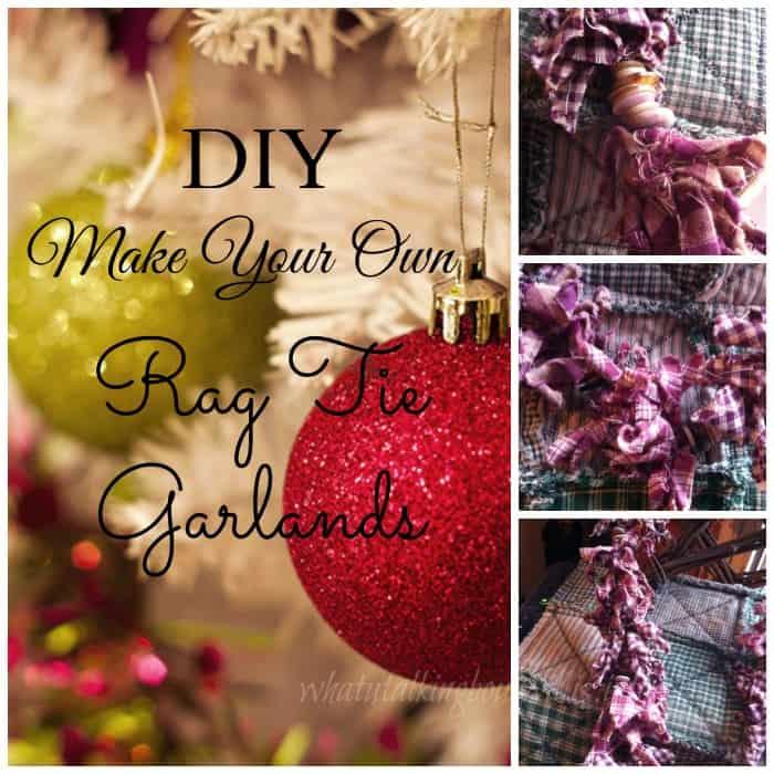 diy rag tie garland image