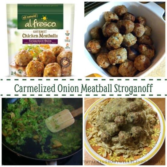 Alfresco Carmelized Onion Meatball Stroganoff
