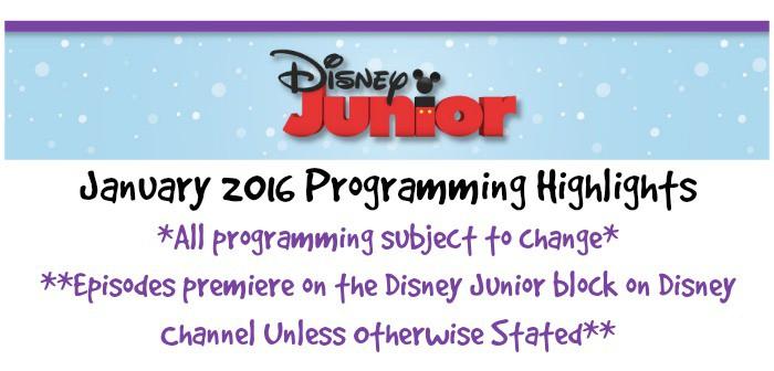 disney jr 2016 Programming