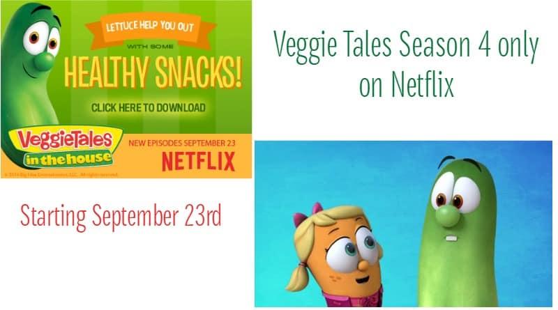 Veggie Tales 4th Season on Netflix 9/23
