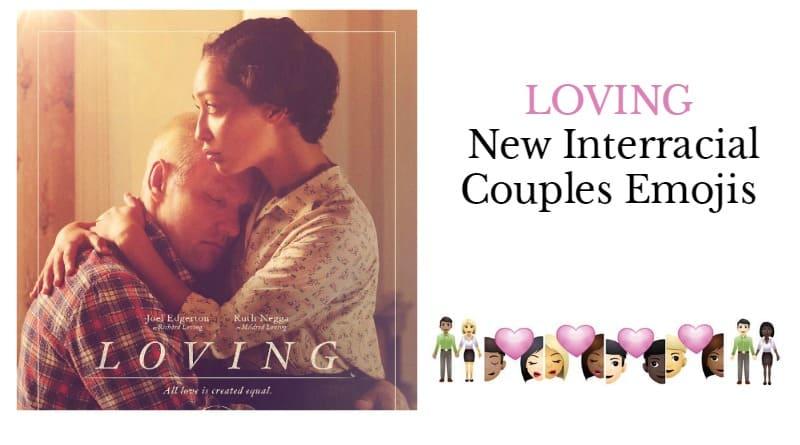 Loving: Bi-racial Couple Emojis