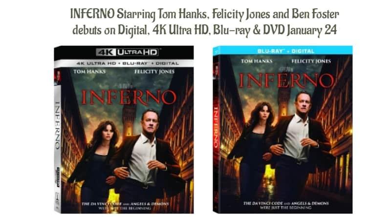 INFERNO Starring Tom Hanks,