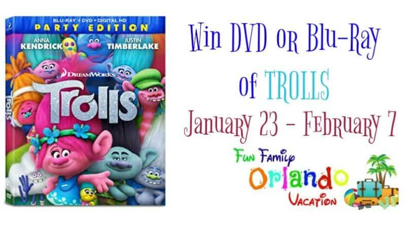 Trolls DVD Giveaway