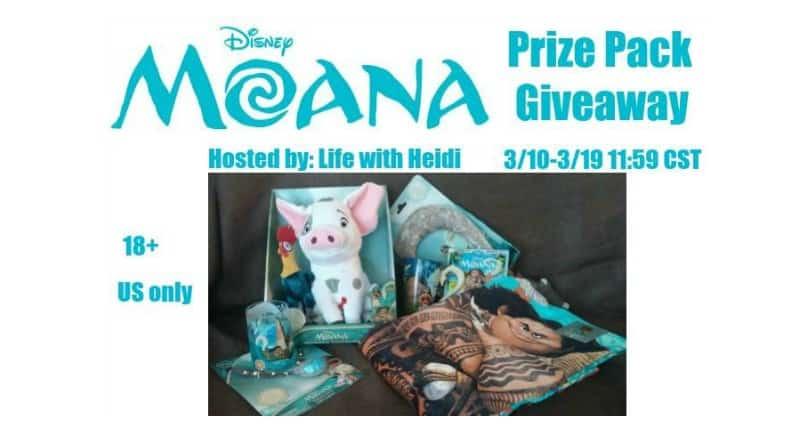 Moana Giveaway 4 Winners