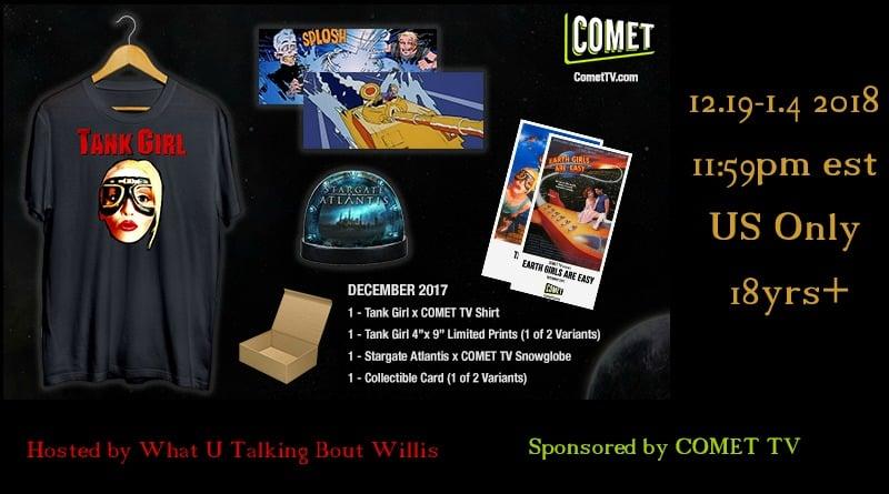 COMET TV December GIVEAWAY: Tank Girl & Stargate Exclusive Swag