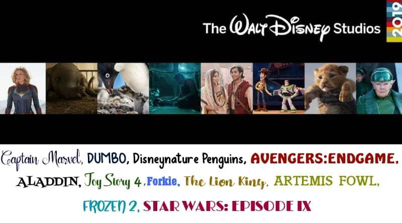 2019 Disney Movie Slate
