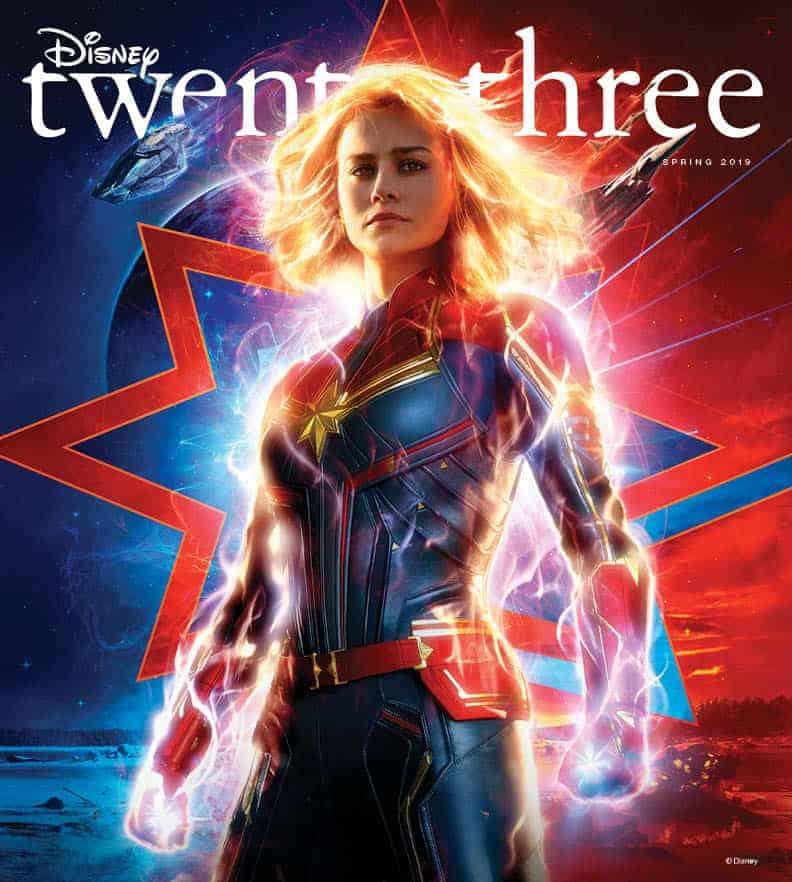 Captain Marvel Lands on the New Cover of Disney Twenty-Three
